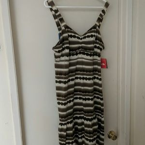 Women's XL Stella dress brown print North face